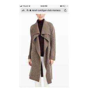NWT Club Monaco Kerah Cashmere Coat/Sweater,Medium